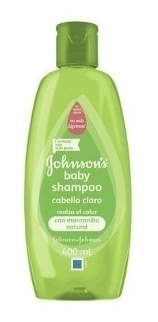 Shampoo Johnson's Baby Para Cabello Claro X 400 Ml