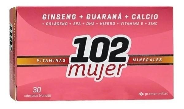 102 Años Plus Mujer Multivitaminico X 30 Cpmprimidos Magistral Lacroze