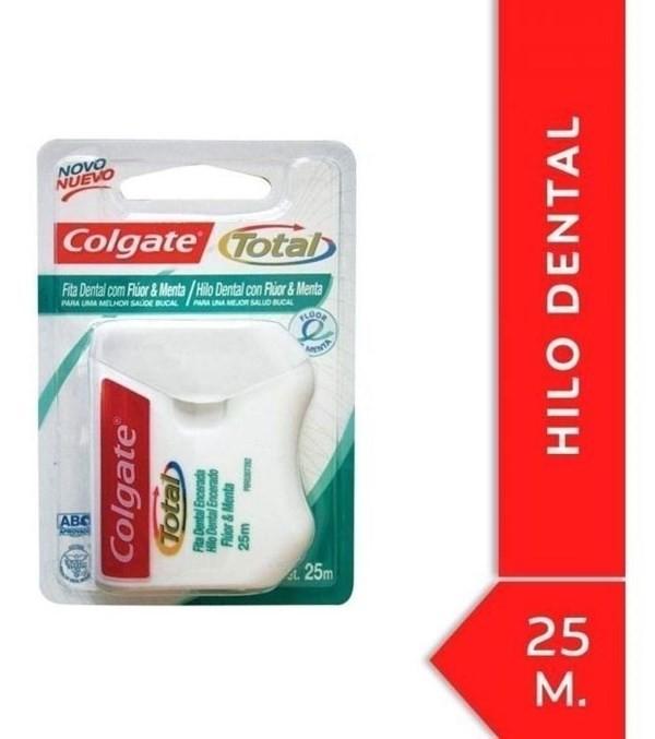 Hilo Dental Colgate Total Flúor Y Menta 25m #1
