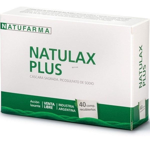 Natulax Plus Cáscara Sagrada Natufarma X 40 Comprimidos