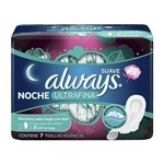 Toallitas Femeninas Always Noche Ultrafina Suave 7 Un #1