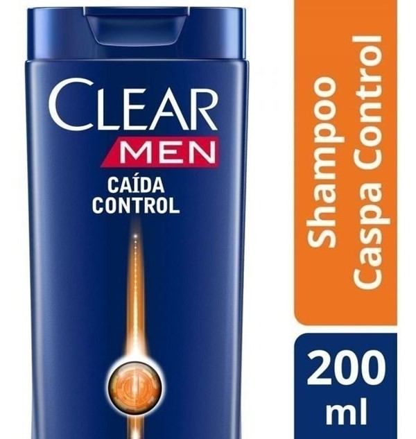 Shampoo Clear Men Anticaspa Caída Control 200ml