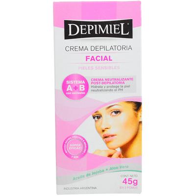 Crema Depilatoria Depimiel Facial Piel Sensible X 45 Gr
