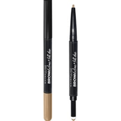 Delineador de cejas Maybelline Brow Define & Fill Duo Deep Brown X 110 Mg