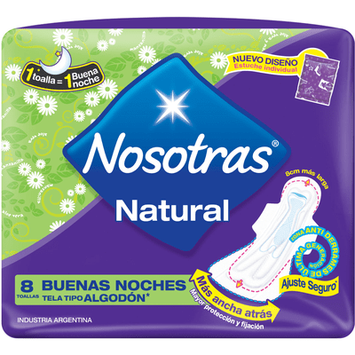 Toallitas Higienicas Nosotras Th Bn Swi X 8 Unidades