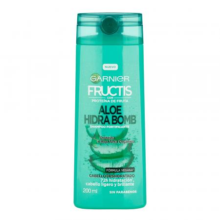Shampoo Garnier Fructis Aloe Hidrabomb X 200 Ml