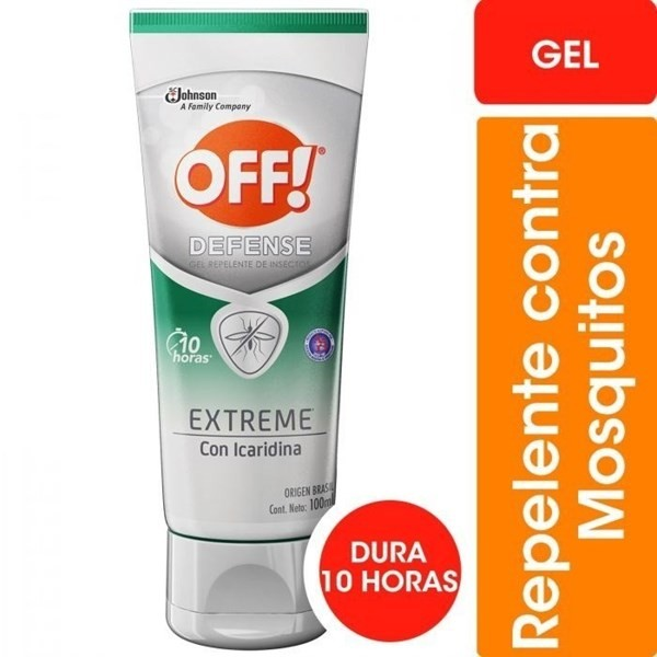 Repelente Off Defense Extreme Gel X 100 Ml