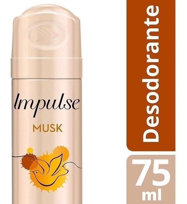 Desodorante Impulse Musk Aerosol X 75 Ml