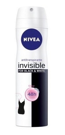 Nivea Desodorante Aerosol Invisible Black & White Clear x150ml
