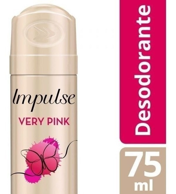 Desodorante Impulse Very Pink Aerosol X 75 Ml