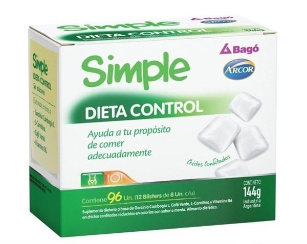 Suplemento Simple Bago Dieta Control X 96 Chicles