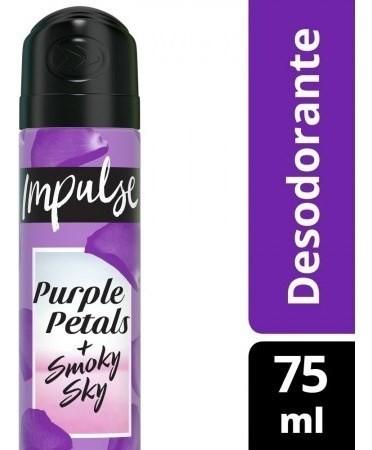Desodorante Impulse Purple Petals + Smoky Sky Aerosol 75ml