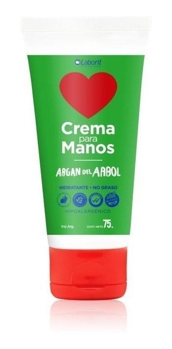 Laborit Crema De Manos Argan Del Arbol 75g Hidratación 2x1