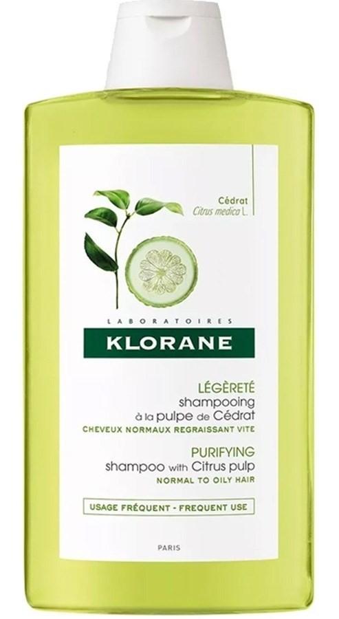 Klorane Shampoo Cabello Brilloso Pulpa De Cedrat 400ml
