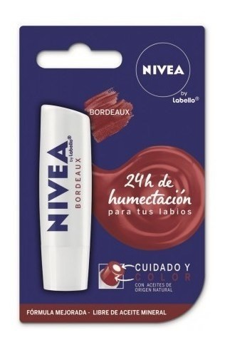 Nivea Labial Cuidado Y Color Bordeaux 5,5 Ml