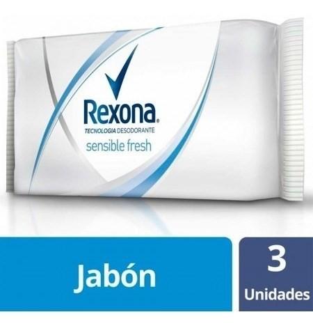 Jabón Rexona Sensibilidad Fresh 125g 3un X