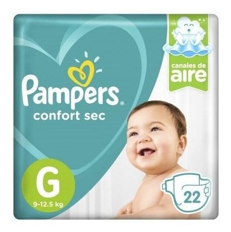 Pampers Pañales Confort Sec G X 22 Un