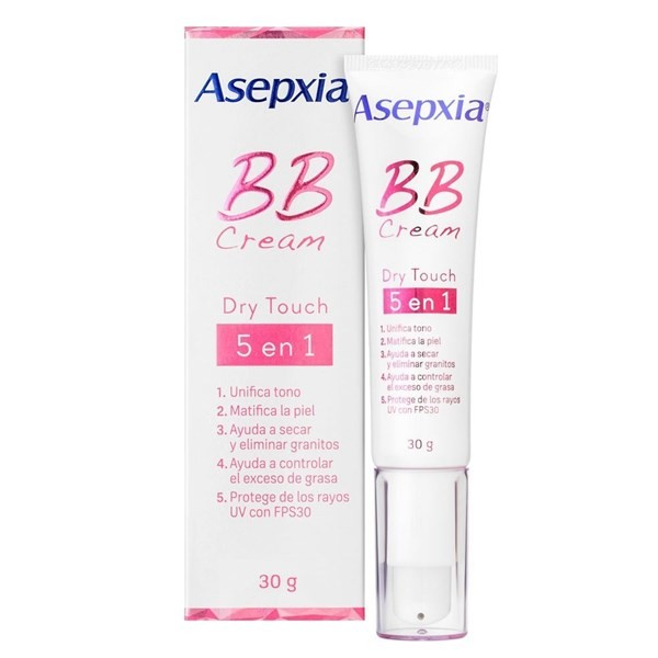 Asepxia Bb Cream Dry Touch 5 Beneficios En 1 30grs