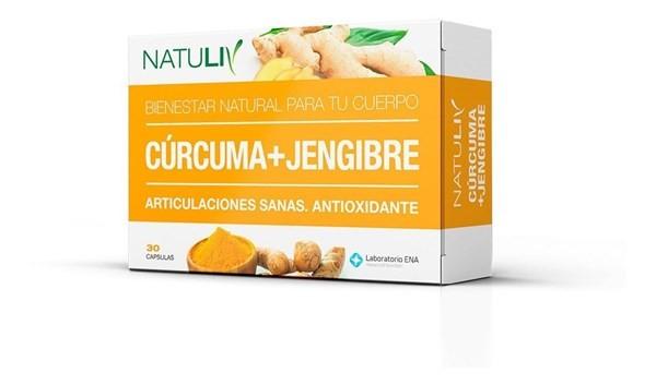Natuliv Cúrcuma+ Jengibre 30 Cápsulas