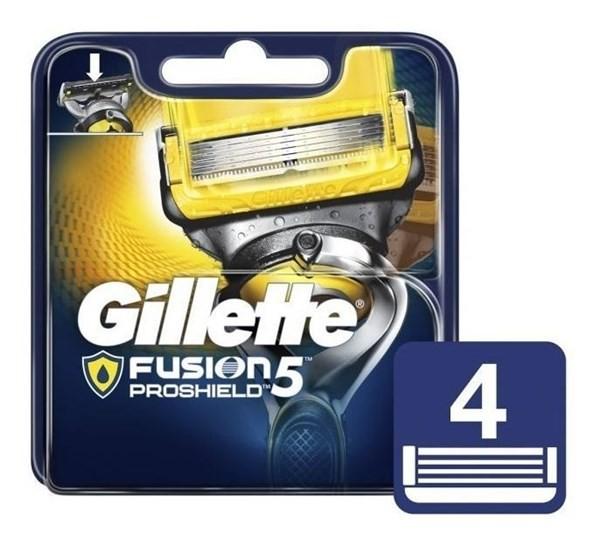 Cartuchos Repuesto De Afeitar Gillette Fusion5 Proshield 4 U