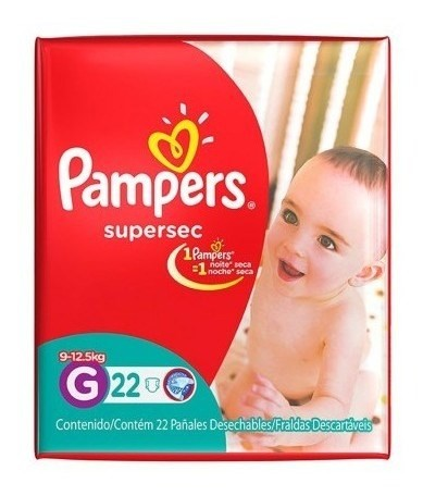 Pampers Pañales Supersec G X 22 Un