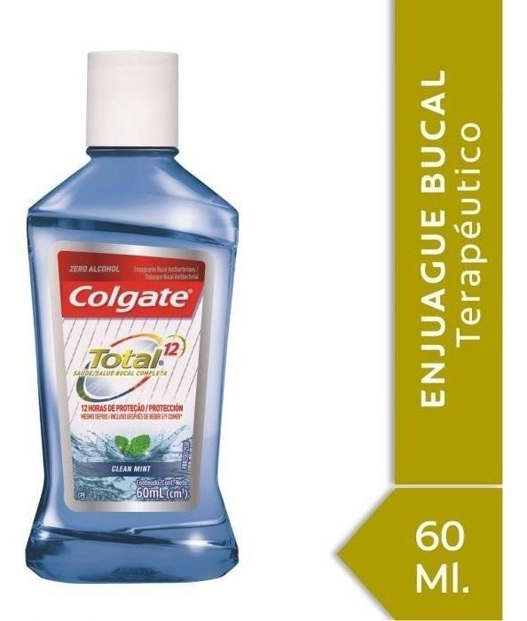 Enjuague Bucal Colgate Total 12 Clean Mint 60ml