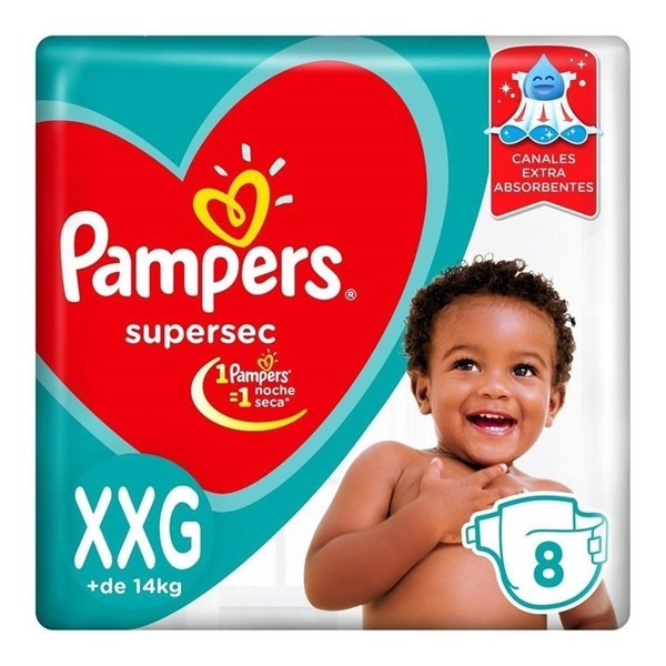 Pañales Pampers Supersec Xxg 8 Unidades