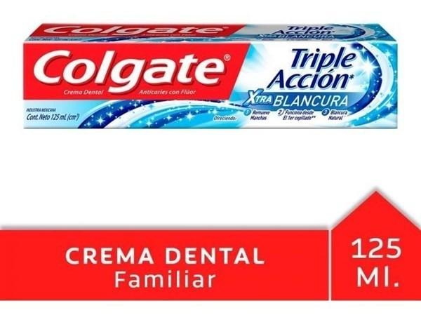 Crema Dental Colgate Triple Acción Extra Blancura 125ml