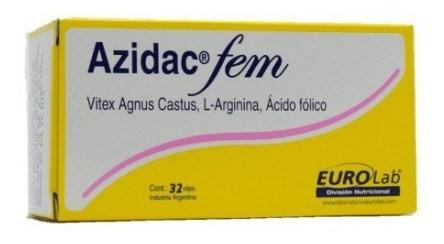 Azidac Fem Regula Ciclo Menstrual 32 Cápsulas