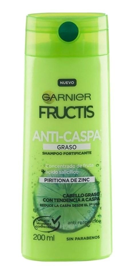 Garnier Fructis Shampoo Fortificante Anti Caspa Graso 200ml