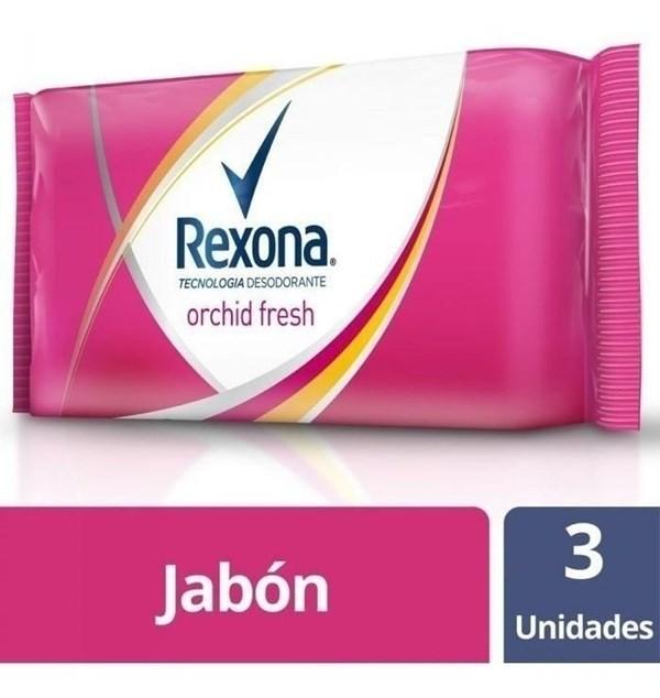 Jabón Rexona Orchid Fresh - 3 Unidadesn X 125g