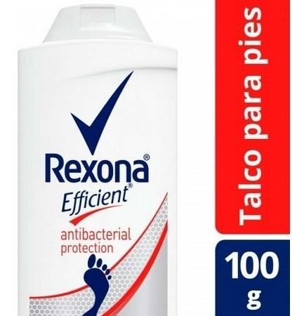 Talco Para Pies Rexona Efficient Antibacterial 100g