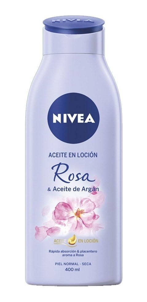 Nivea Loción Corporal Rosa Y Aceite De Argán 400ml