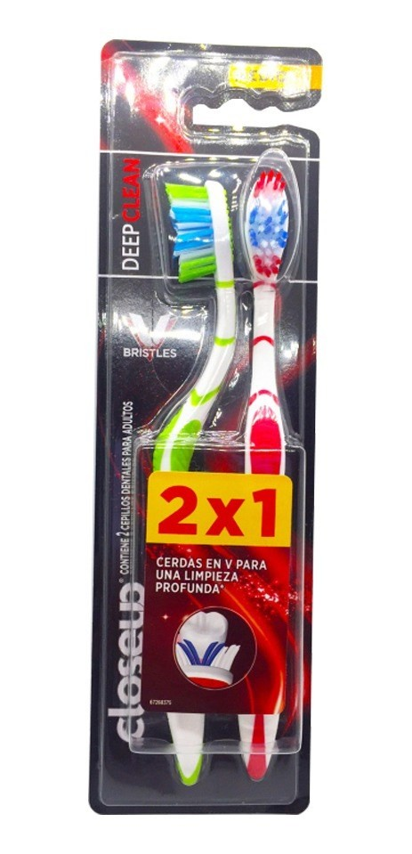 Close Up Cepillo De Dientes Deepclean  Medio 2x1