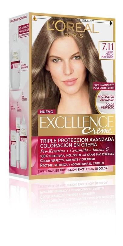 Coloración Excellence 7.11 Rubio Ceniza Profundo