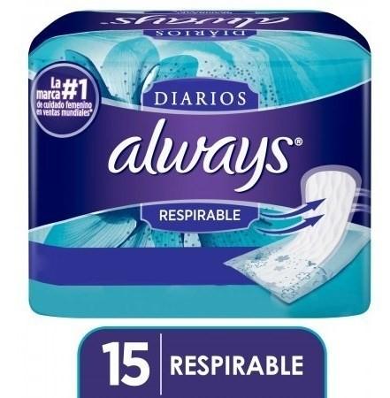 Protectores Diarios Always Respirable 15 Un
