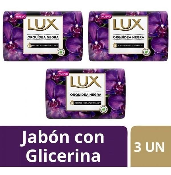 Jabon Lux Orquidea Negra Barra 3un X125g