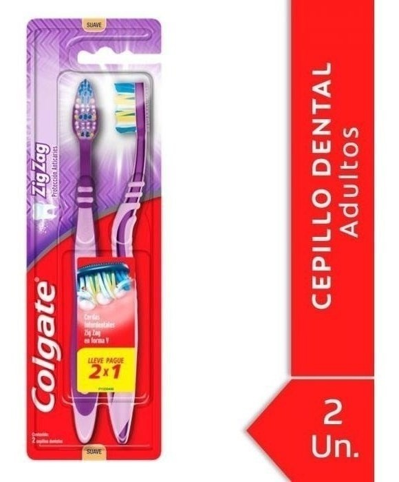 Cepillo Dental Colgate Zig Zag Plus Soft 2 Unidades