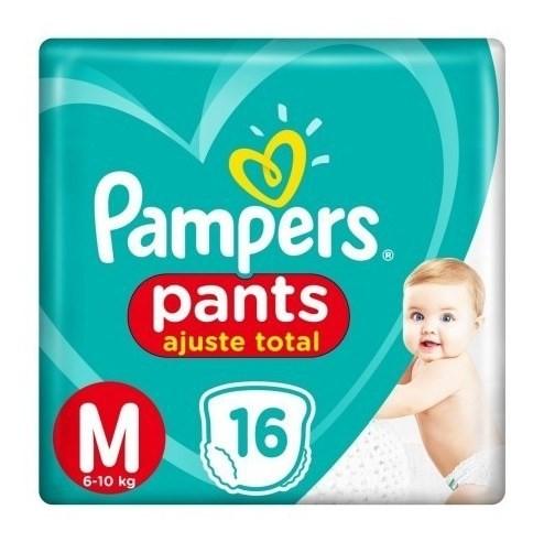 Pañales Pampers Pants Ajuste Total M 16 Unidades