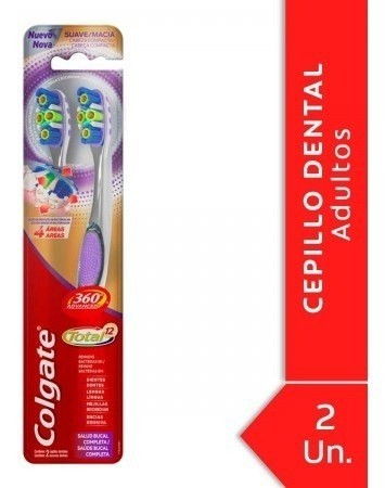 Cepillo Dental Colgate 360º Advanced Total 12 2 Unidades