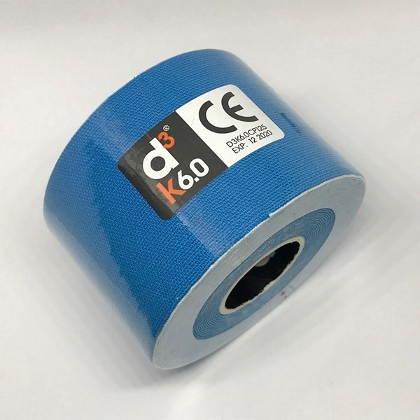 Cinta Adhesiva Kinesiológica D3 Tape Spider Tech Azul X6m
