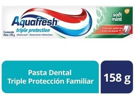 Crema Dental Aquafresh Triple Protection Soft Mint X 158 Gr