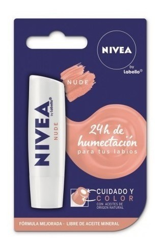 Nivea Lápiz Labial Cuidado Y Color Nude X 5,5 Ml