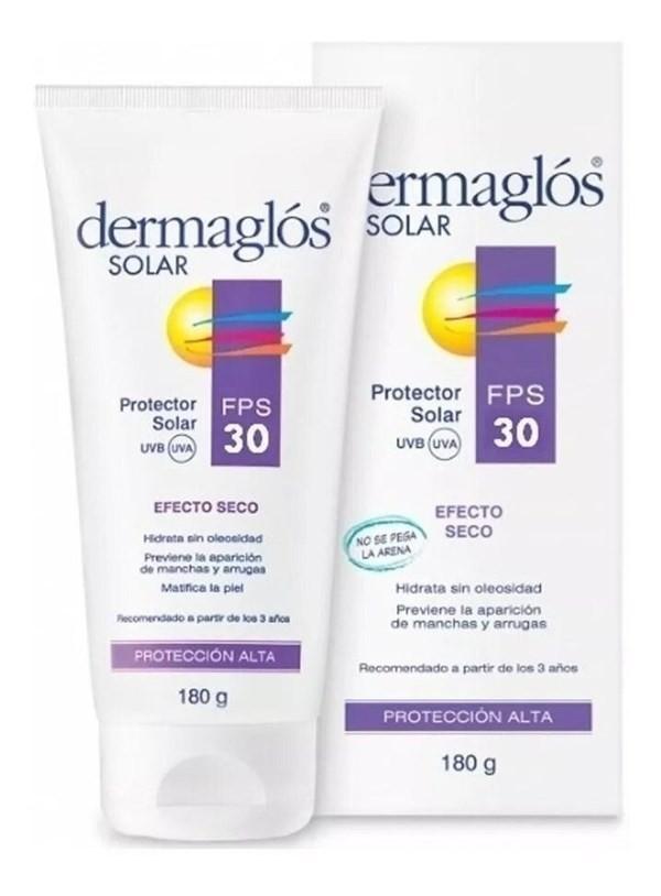Protector Solar Dermaglos Crema Fps 30 Efecto Seco X 180 Gr