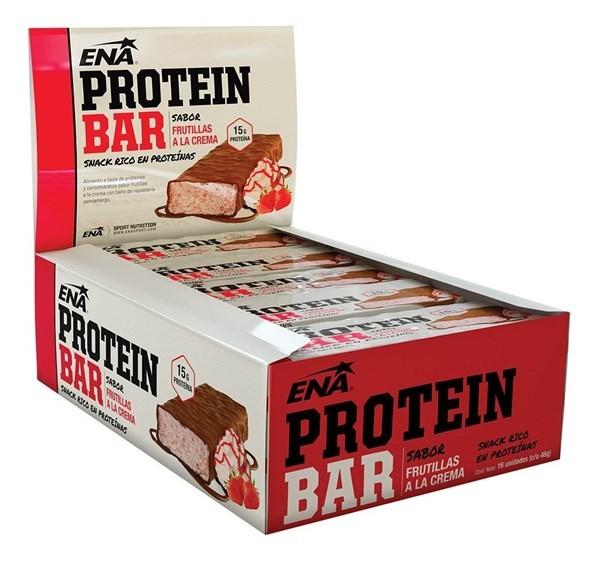 Protein Bar Frutillas A La Crema C Caja X 16