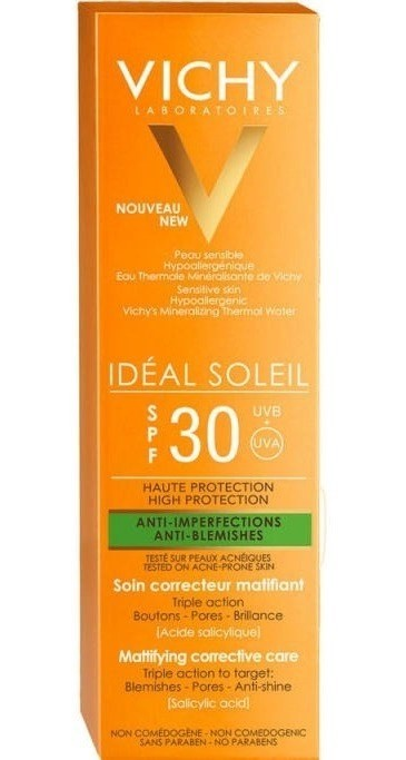 Vichy Ideal Soleil Protector Solar Spf 30 Anti Imperfeccione