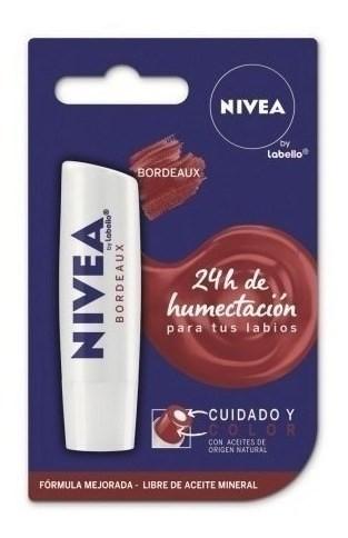 Nivea Labial Cuidado Y Color Bordeaux 5,5 Ml