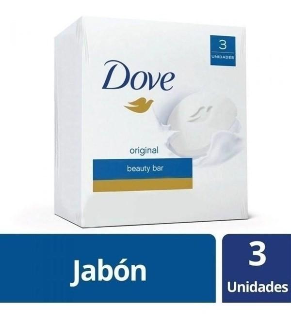 Jabon Dove Original En Barra X3 Unidades 90g