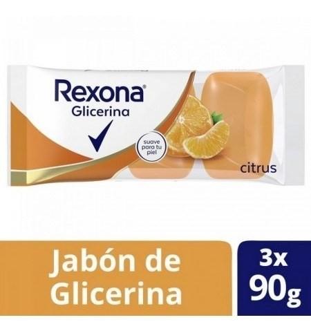 Jabón Rexona Glicerina Citrus 3un X90g