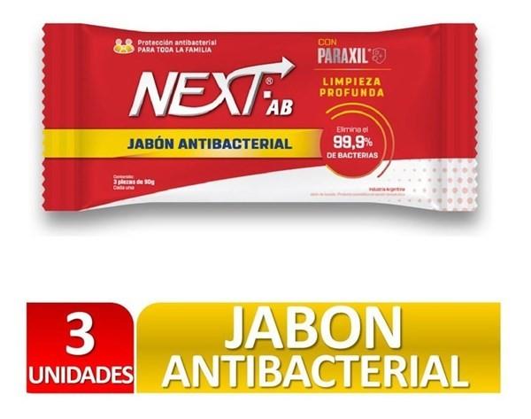 Next Ab Jabon Antibacterial 90 G X 3 Un